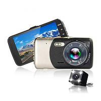 Автомобільний відеореєстратор ALISTOR X600 + виносна камера, широкий огляд, фото 1