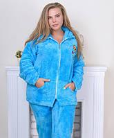 Пижама женская на молнии софт-большие размеры
