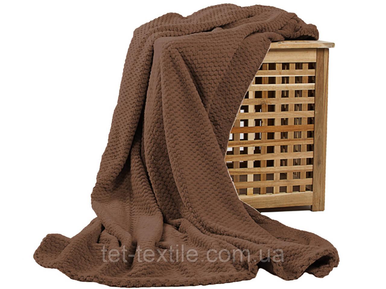Плед из бамбукового волокна Koloco коричневый (180х220)