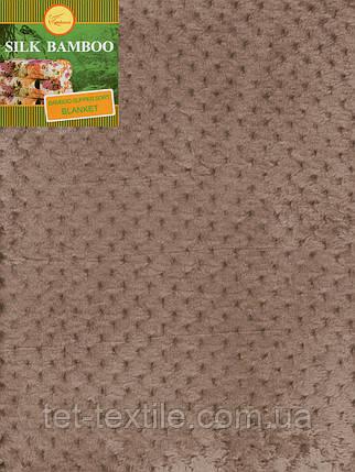 Плед из бамбукового волокна Koloco коричневый (180х220), фото 2