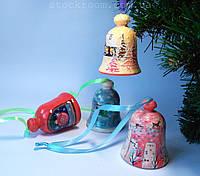 Елочная игрушка колокольчик