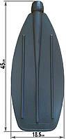 Лопасть весла 45*18,5 см