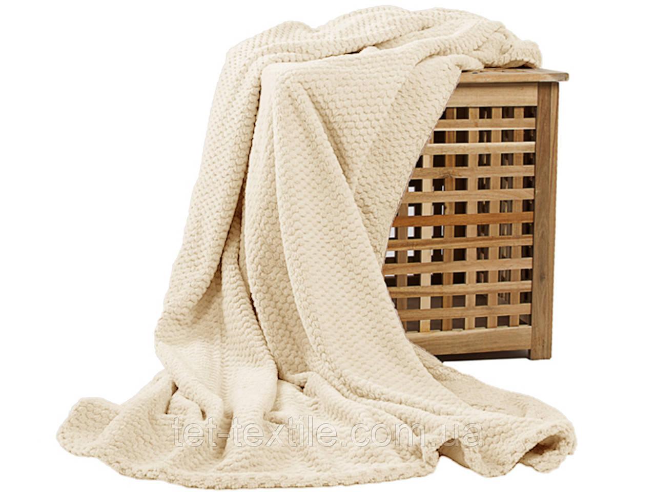 Плед из бамбукового волокна Koloco молочный (200х230)