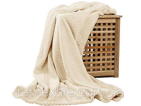 Плед из бамбукового волокна Koloco молочный (200х230), фото 2