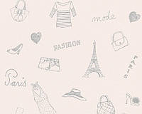 """Детские обои """"мода"""". Париж"""