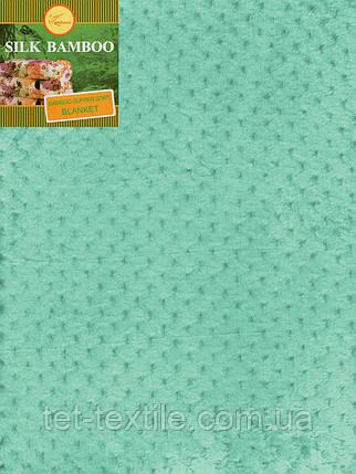 Плед из бамбукового волокна мятный (180х220), фото 2