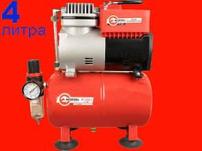Безмасляный компрессор на 4 литра Intertool PT-0001