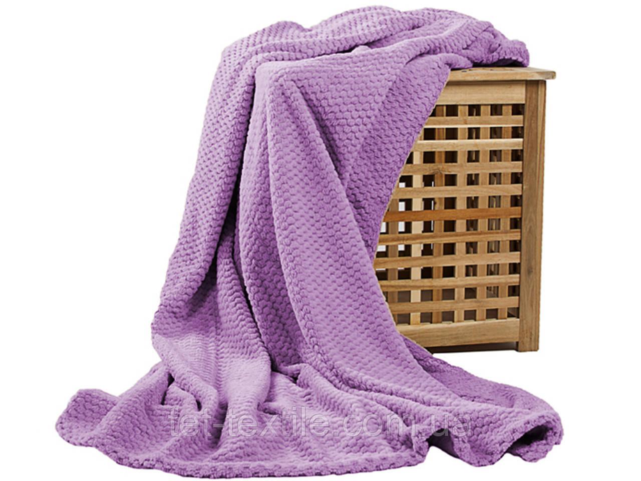 Плед из бамбукового волокна Koloco Сиреневый (180х220)