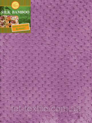 Плед из бамбукового волокна Koloco Сиреневый (180х220), фото 2
