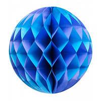 Бумажный декоративный шар синий