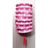 Бумажный декоративный фонарик цветной