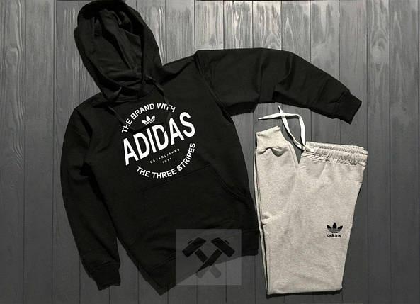 Весенний костюм спортивный Adidas с капюшоном  топ реплика, фото 2