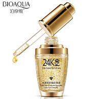 Сыворотка Bioaqua 24k Gold Skin Care c частичками золота и гиалуроновой кислотой