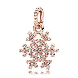 Шарм «Снежинка» в стиле Pandora Rose