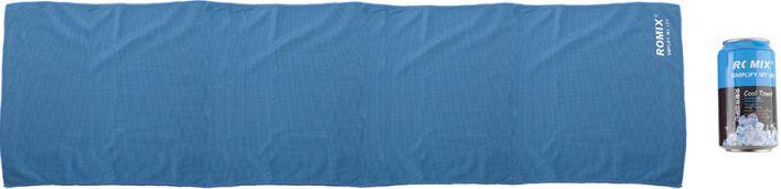 Практичное холодное полотенце 30*120 полиэфир ROMIX RH20-1.2BL, синий