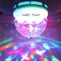 Светодиодная лампа RGB disko  E27 3w
