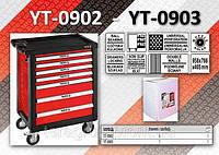 Шкаф-тележка для инструментов c 6 ящиками, YATO YT-0902