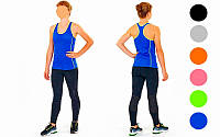 Майка для фитнеса и йоги  (лайкра, р-р M-L-42-48, цвета в ассортименте)