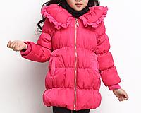 Зимнее пальто-пуховик на девочку Д 0626-И