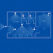 IP видеонаблюдение 8 камер (2Мп) для офиса