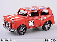 Автомобиль металл Ралли-кар Великобритания 24*11*10 см красн.