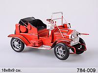 Автомобиль металл Ретромобиль 18*8*9 см красн.
