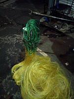 Сеть Корона золотая , леска нанофил ,0,2 мм. в 3 плетения.Длина 75 м.Высота 3 м. Ячея-120 мм.