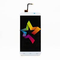 Дисплей (Модуль) для мобильного телефона Doogee T6, белый, с тачскрином (Original)