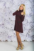 Трикотажное платье с карманами бордо