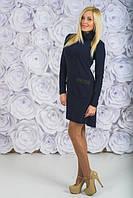 Трикотажное платье с карманами черное