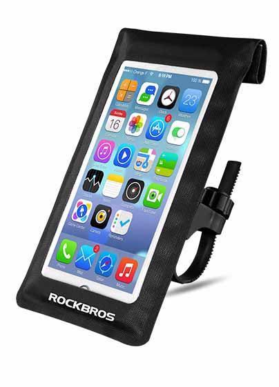 Чехол для телефона с креплением на руль водонепроницаемый черный