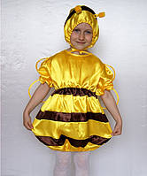 """Карнавальный костюм из атласа """"Пчёлка"""", размер 3-6 лет"""