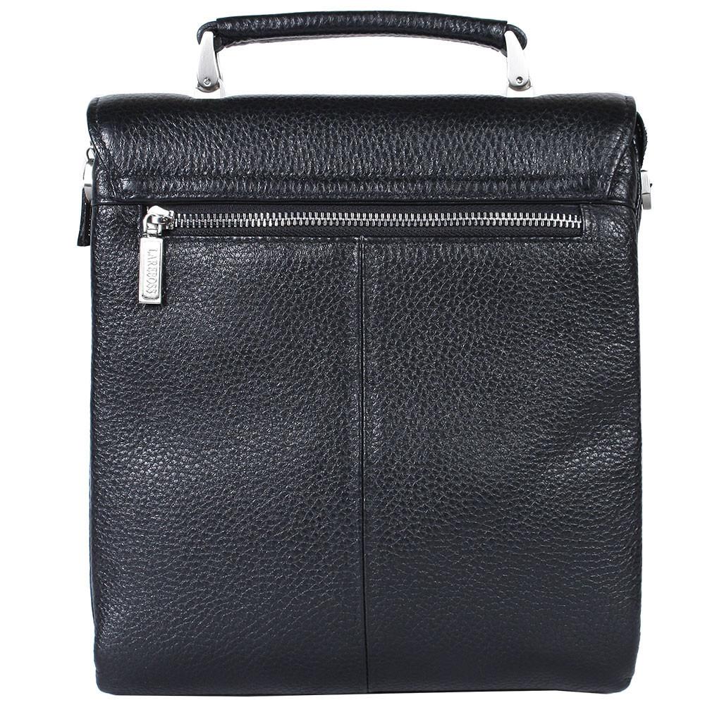 Мужская кожаная сумка из плотной кожи черная с ручкой Lare Boss LB0049611-41 3