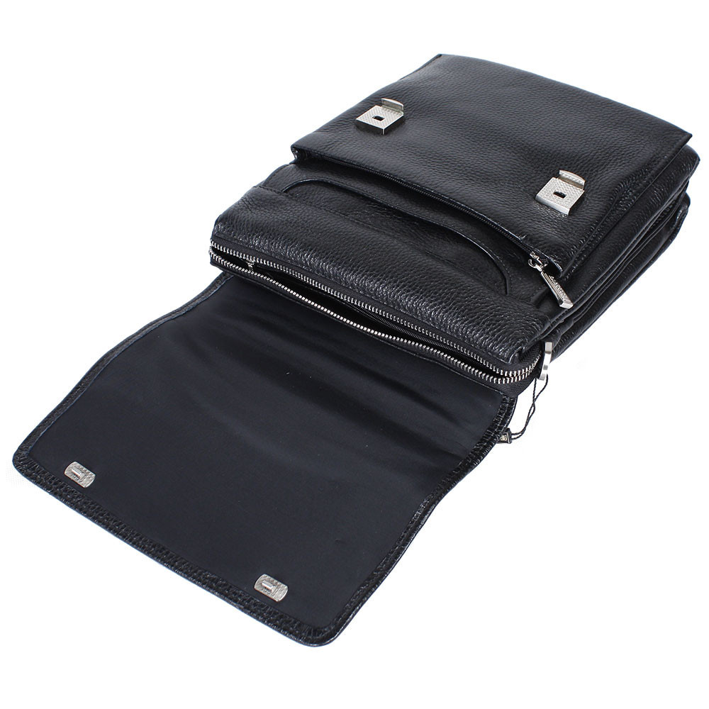 Мужская кожаная сумка из плотной кожи черная с ручкой Lare Boss LB0049611-41 5
