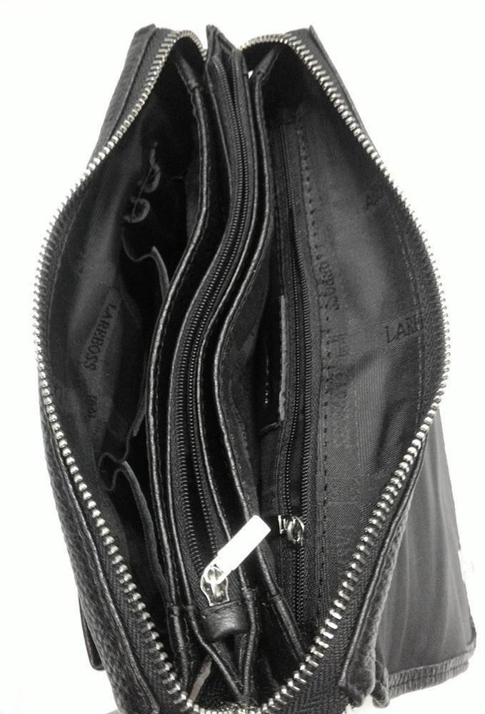 Мужская кожаная сумка из плотной кожи черная с ручкой Lare Boss LB0049611-41 7