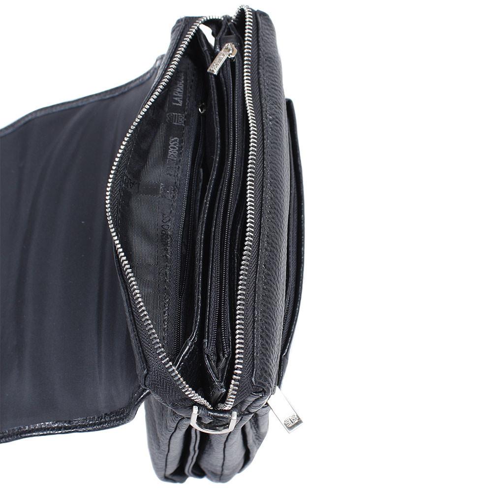 Мужская кожаная сумка из плотной кожи черная с ручкой Lare Boss LB0049611-41 8
