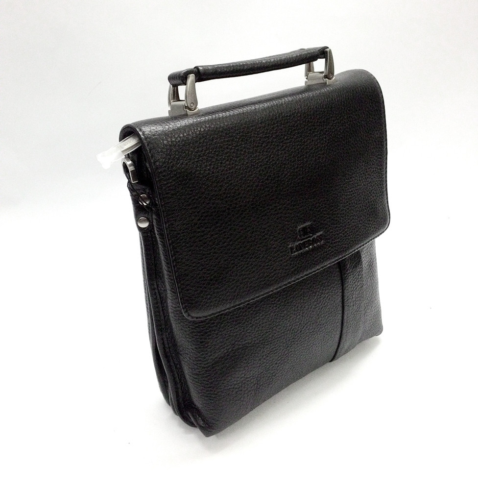 Мужская кожаная сумка из плотной кожи черная с ручкой Lare Boss LB0049560-31 4