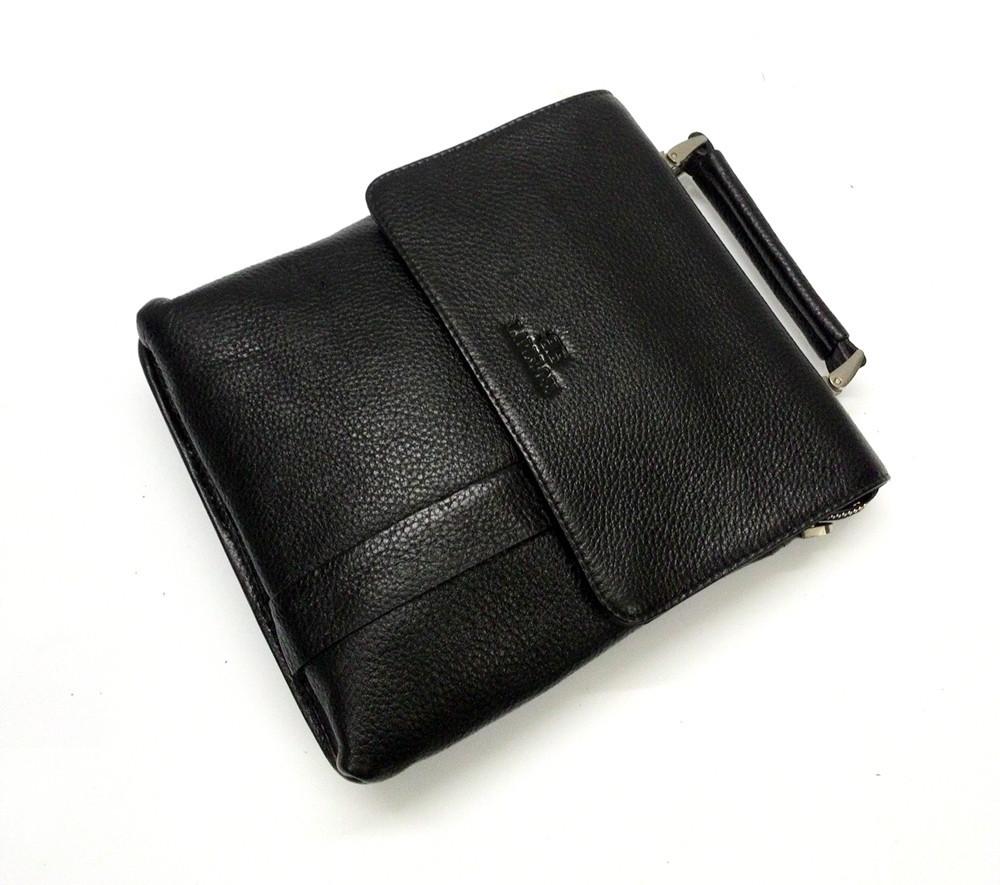 Мужская кожаная сумка из плотной кожи черная с ручкой Lare Boss LB0049560-31 5