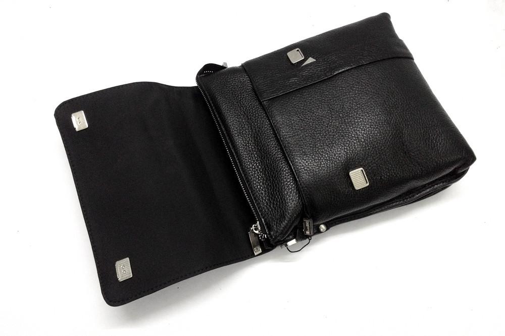 Мужская кожаная сумка из плотной кожи черная с ручкой Lare Boss LB0049560-31 7