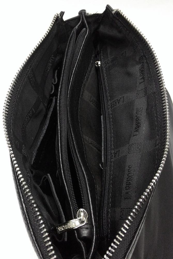 Мужская кожаная сумка из плотной кожи черная с ручкой Lare Boss LB0049560-31 8