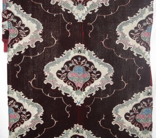 Полуторный комплект покрывал бордового цвета на диван и кресла, фото 2