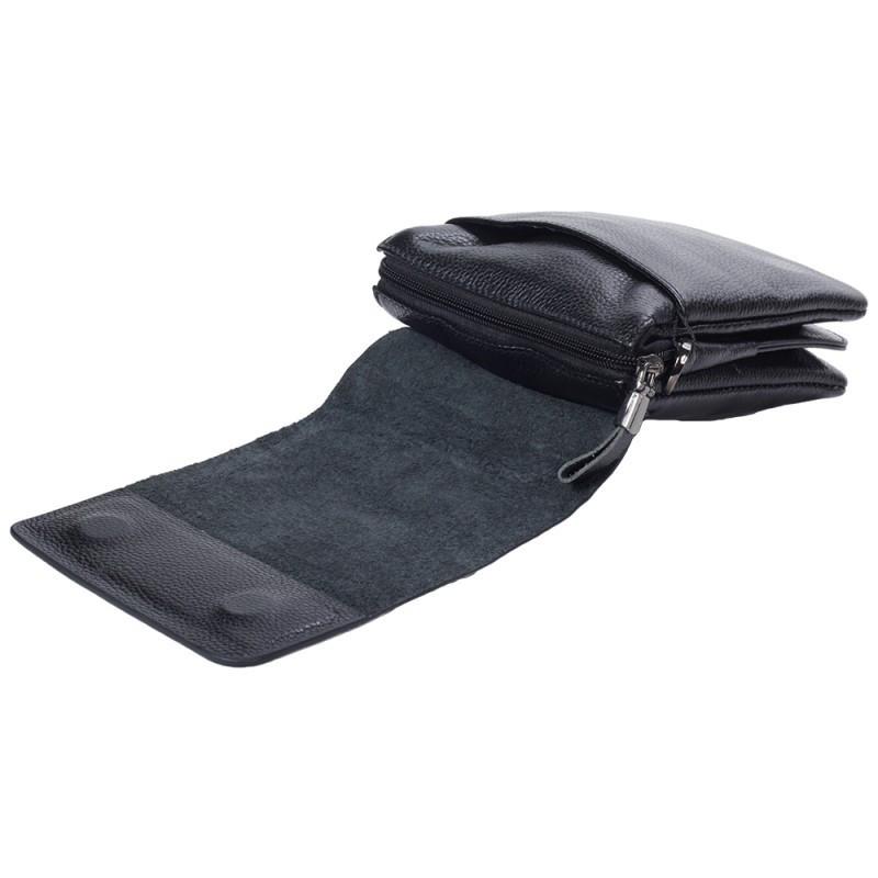 9034936e54d9 ... Небольшая мужская кожаная сумка-барсетка черная Tofionno TF003011-11 5  ...
