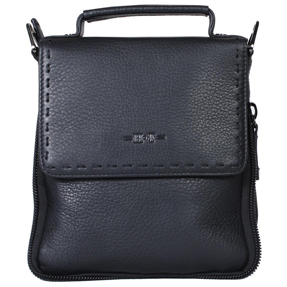 Мужская кожаная сумка-барсетка черная HT003193-51