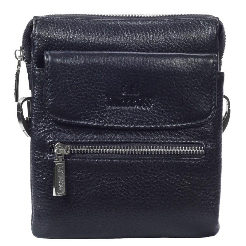 533ba5b719ec Невероятно практичная мужская кожаная сумка на пояс и через плечо черная  Lare Boss LB0049645-11
