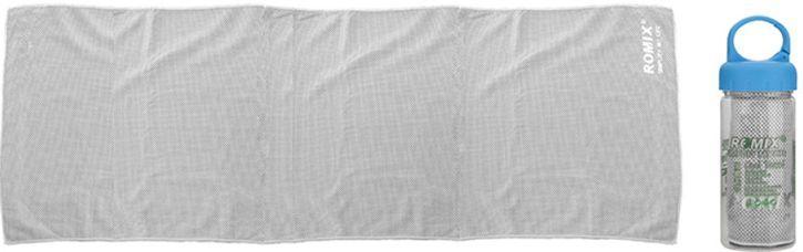 Практичное холодное полотенце 30*90 полиэфир ROMIX RH24-0.9GR, серый