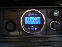 Автомобильные часы,термометр, вольтметр 7042V, фото 1