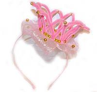Обруч для девочки для волос Корона розовый