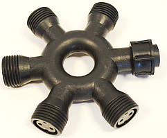 Аксессуар для гирлянды DELUX Connector IP44 6 вых. кругл.