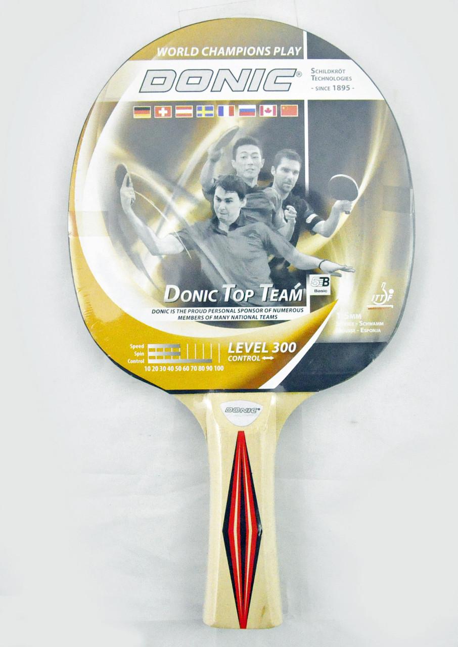 Ракетка для настільного тенісу DONIC 300 TOP TEAMS 705030 - Спорттовари №1  в Хмельницком 9369017e54003