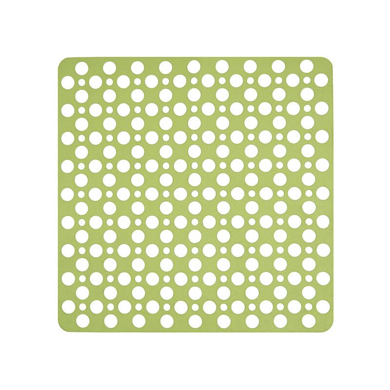 Коврик в душевую кабину или в ванную антискользящий зеленый квадратный AWD02091427